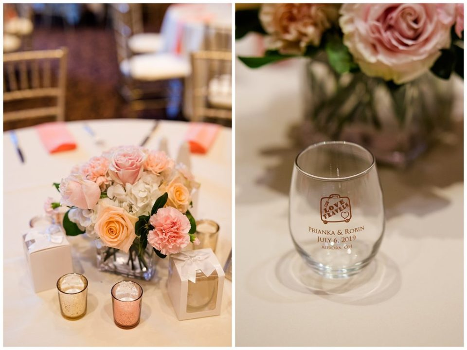 stemless wine glass favors for wedding guests