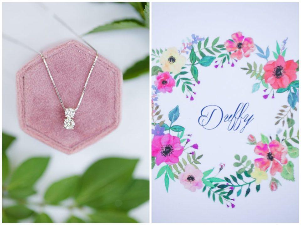 dainty diamond necklace
