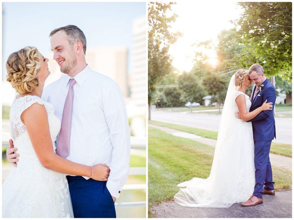 bride nuzzling into groom