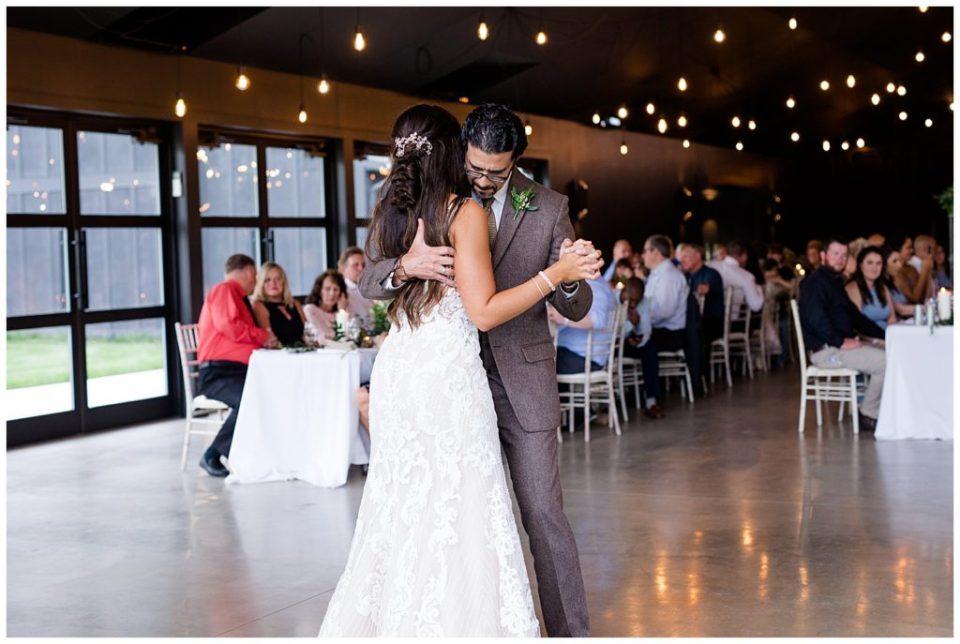 bride and father dance at jorgensen farms oak grove