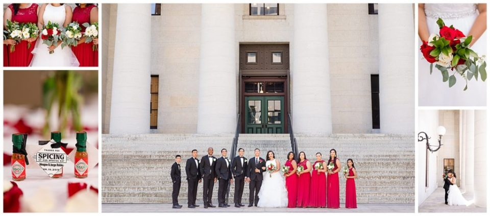 Collage of the best images from this Columbus, OH wedding at the Statehouse by Alayna parker Photography