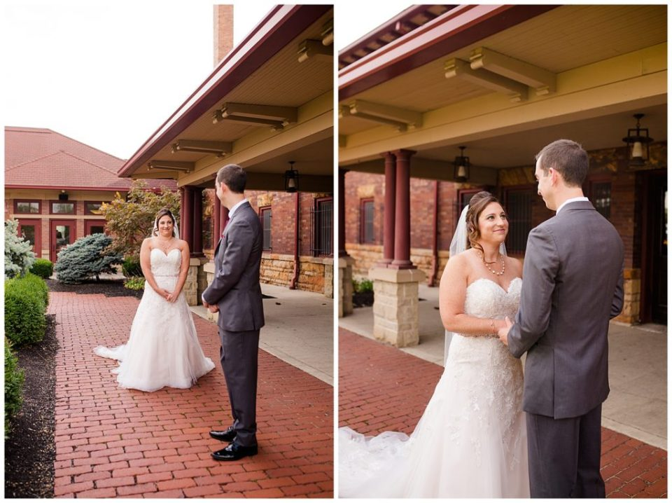 groom sees bride for first time at station 67