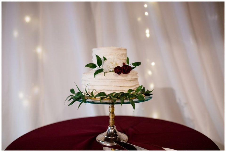 small wedding cake at copius