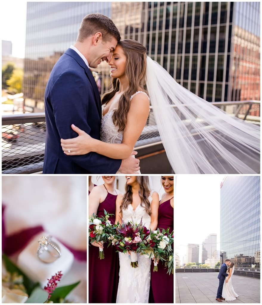 Collage of images from Andrew & Taylor's wedding at Copious by Columbus wedding photographer, Alayna Parker