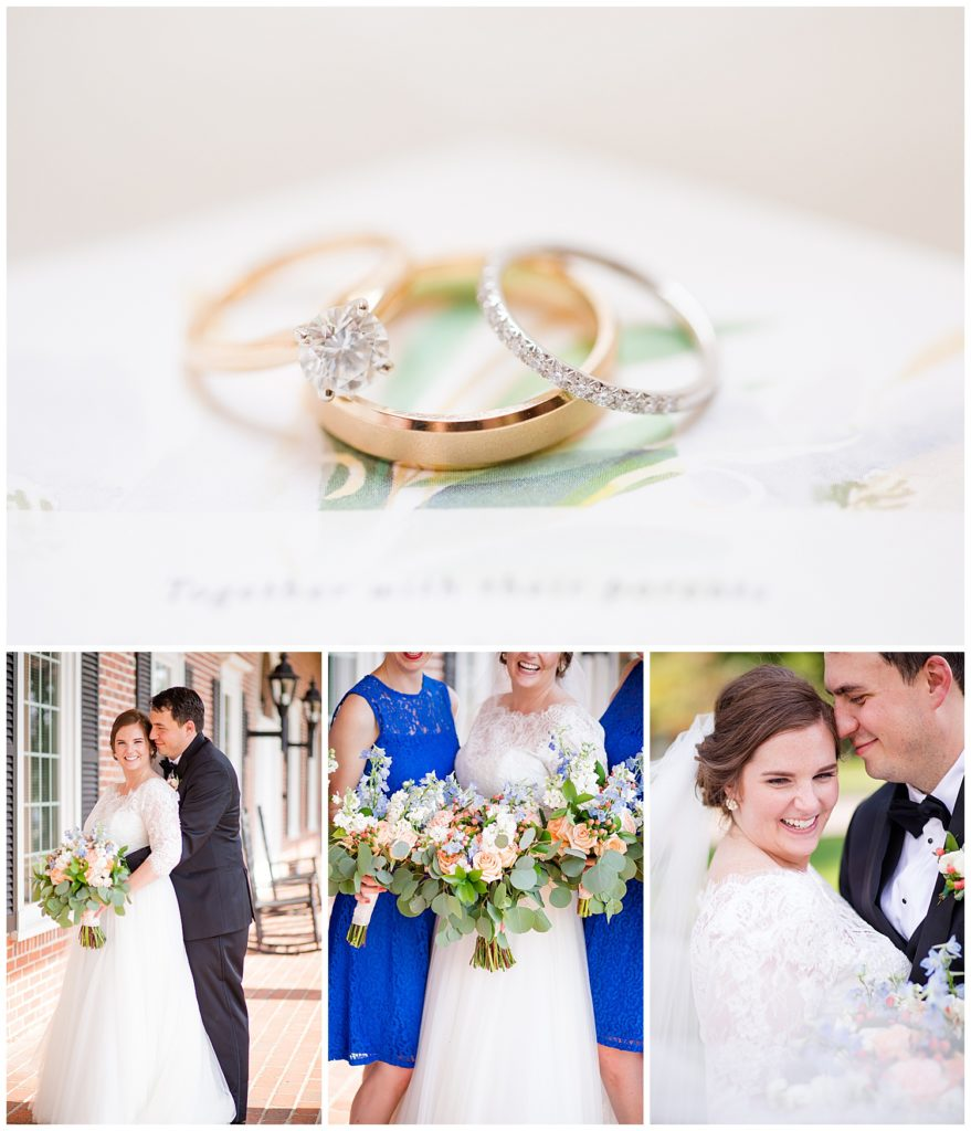 Collage of images from Tyler and Kelly's summer wedding at the Nationwide Conference Center