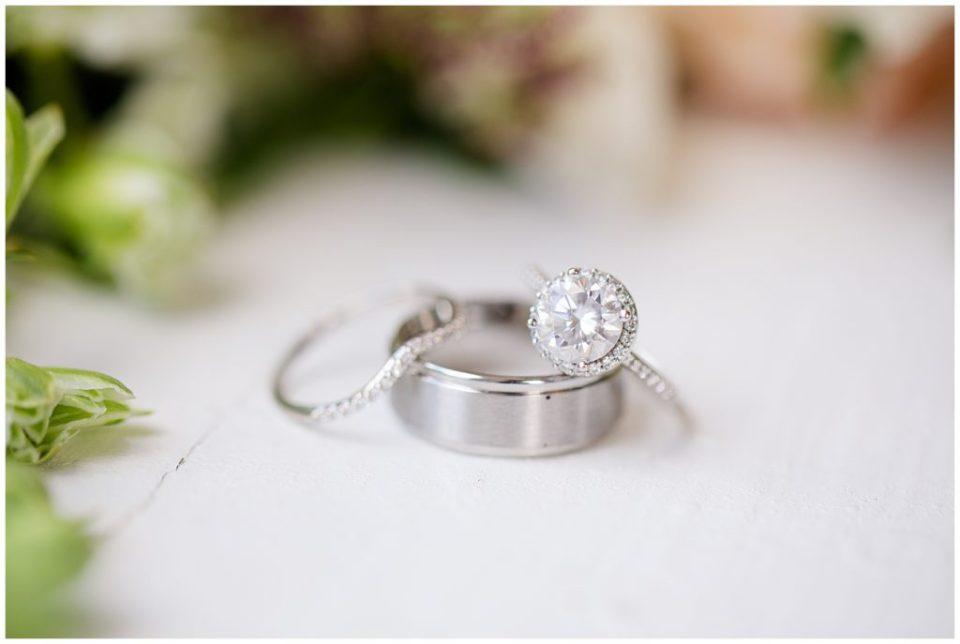 white gold wedding ring set