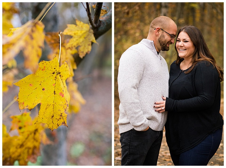 beautiful fall colors from this Columbus OH engagement photography session