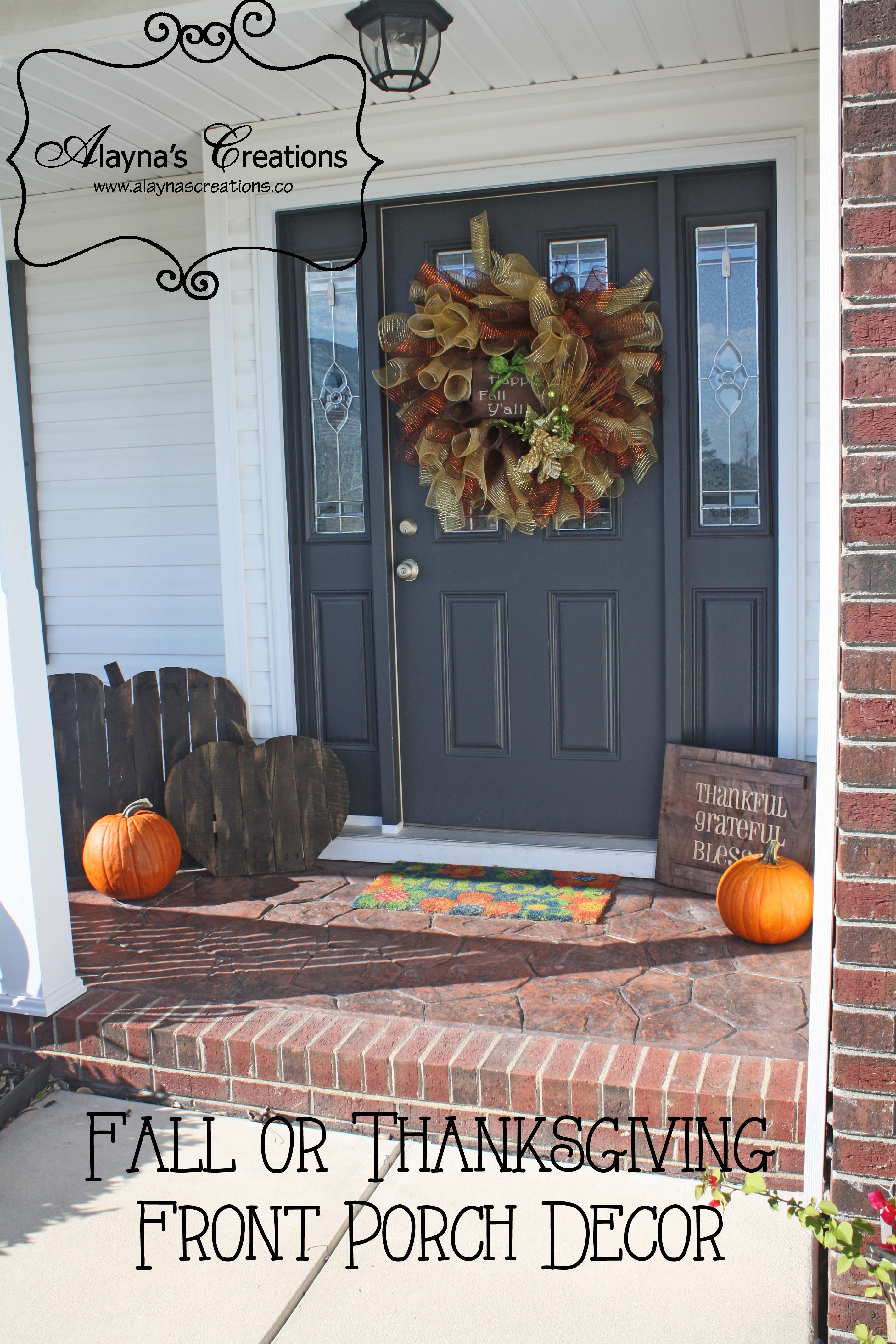 Diy Wooden Sign For Fall Double Sided For Halloween And Thanksgiving Alaynascreations