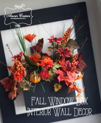 Fall Window Box Wall Decor - DIY home decor and crafts