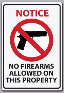 No Firearms Sgin