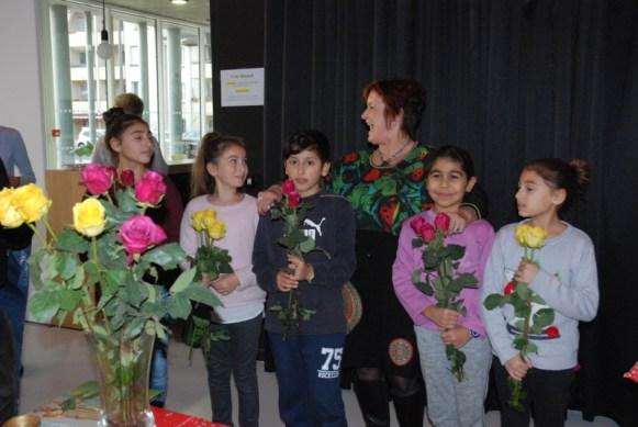 Des roses pour les bénévoles