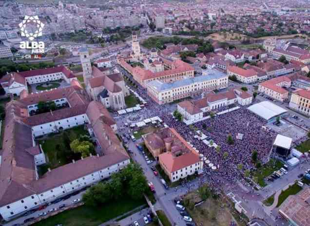 piata cetatii concert Alba Fest 2015_imagini aeriene craiu_6