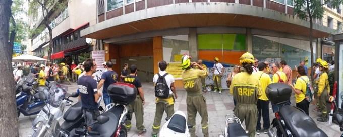 El Colectivo de Brigadas de Intervención Forestal, en huelga