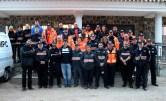 Foto.Francisco Navarro con voluntarios de la Agrupación Municipal de Protección Civil.25-3-17