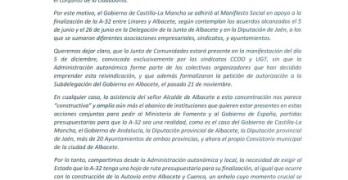 El Delegado de la Junta le recuerda, también por carta, al alcalde que fue Cospedal quien descartó la autovía a Cuenca
