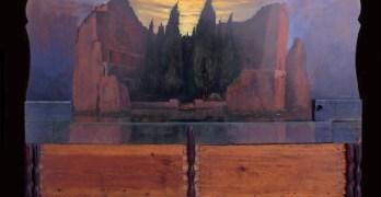 """Renacer"": pintura paisajística sobre objetos hechos lienzo"