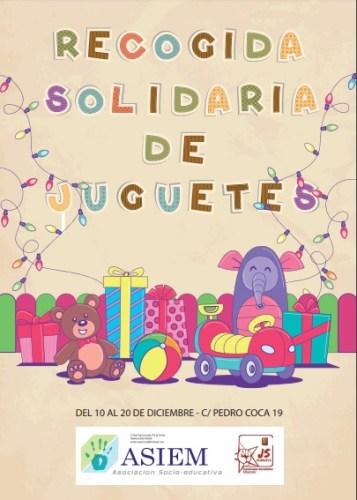Juventudes Socialistas colaborará con la Asociación  ASIEM para que ningún niño se quede sin juguetes estas navidades
