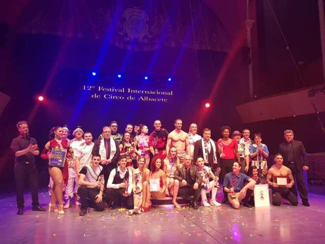 Dúo Unity gana el Cirquijote de Oro y el Premio del Público del XII Festival de Circo de Albacete