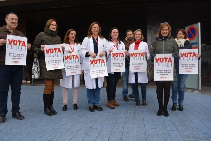 CCOO- Sanidad Albacete inicia su campaña a las elecciones sindicales del SESCAM