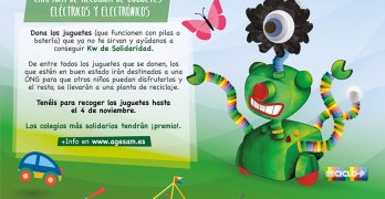 'kilowatios de Solidaridad 2.0' , la campaña de recogida de juguetes usado que conciencia sobre su reciclado