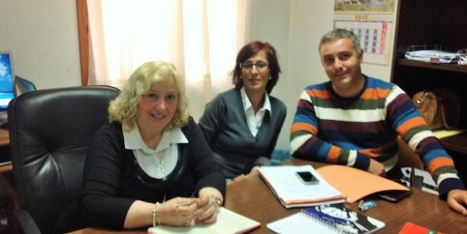 Foto Puri Sánchez, María Mora y Nacho Díaz