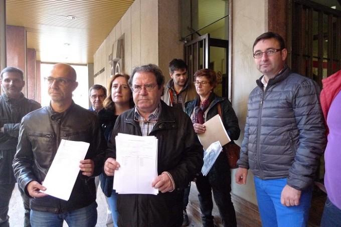 Sánchez y Rodríguez con la candidatura presentada