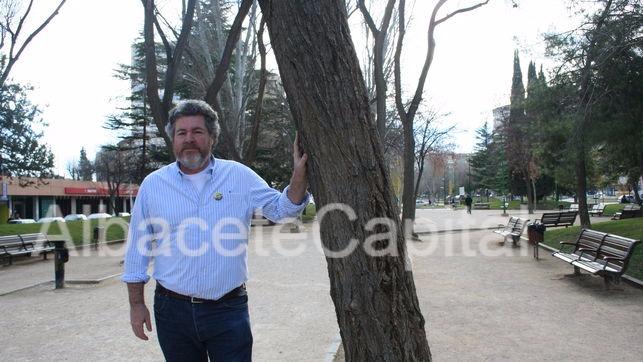 Juantxo Uralde en una visita a Albacete