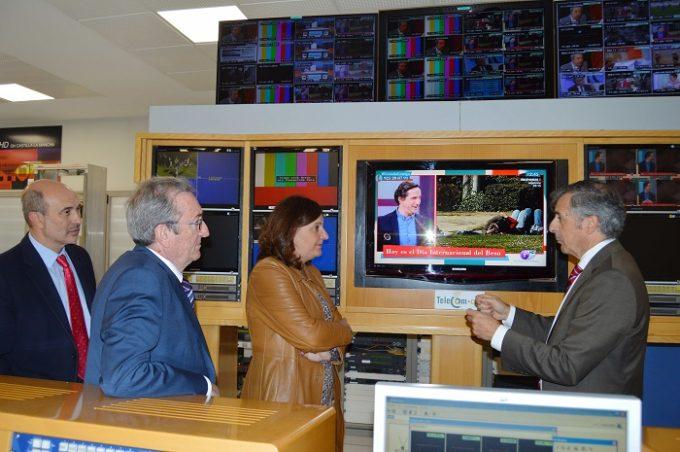 José Luis Cabezas, Juan Francisco Jiménez Sánchez, Patricia Franco y Wenceslao Sánchez de la Peña, en Telecom