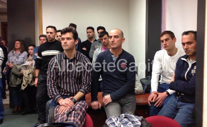 Miembros del SEPEI que han estado presentes en la rueda de prensa