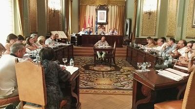 Imagen del pleno de la Diputación celebrado esta mañana