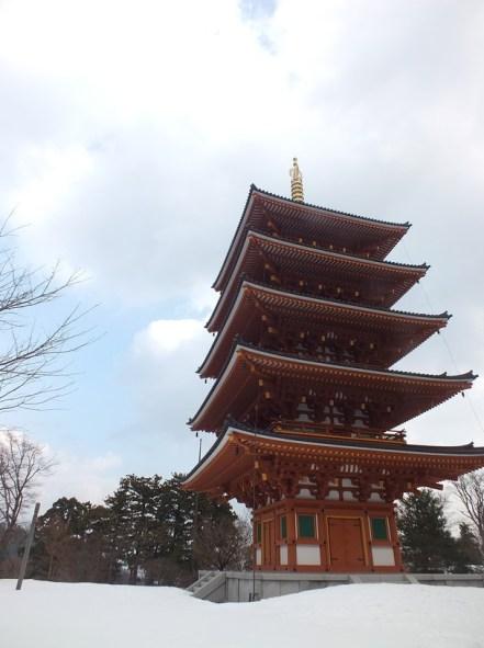 Pagoda salju
