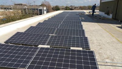 Commercial Solar Panel Install Victory Medical Austin Texas-3