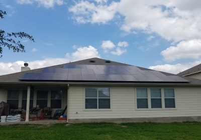 Pflugerville Texas Solar Panel Install by Alba Energy