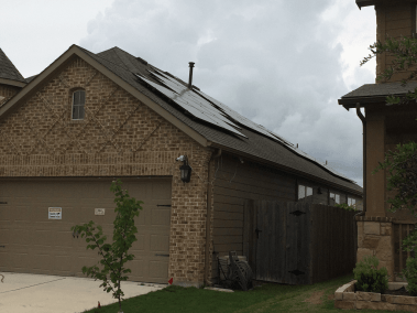 Hutto Texas Solar Panel Installation - Detail