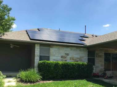 Round Rock Texas Solar Powered Home Install
