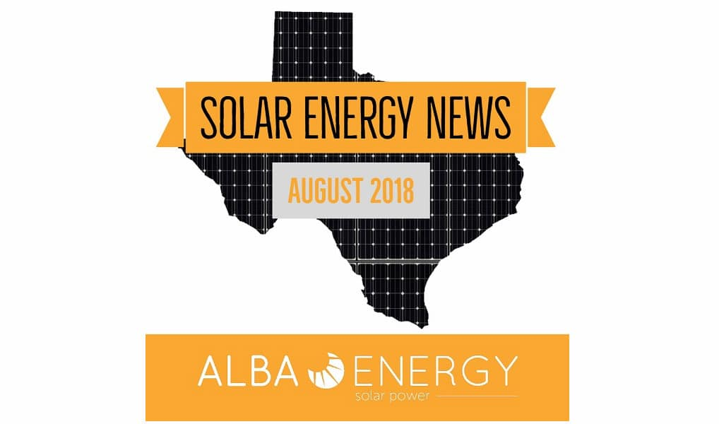 Texas Solar Energy News – August Edition