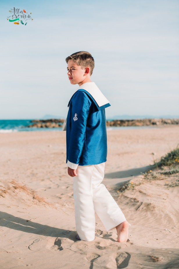 reportaje comunion playa cullera niño