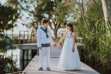 reportaje comunion hermanos vestidos hortensia maeso