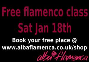 Free flamenco class Saturday January 18th