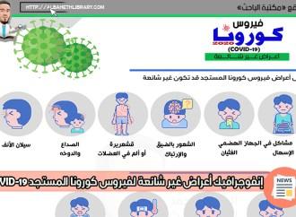 انفوجرافيك فيروس كورونا المستجد COVID-19 (أعراض غير شائعة)