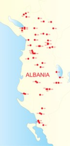Albanian Dialects map (c) AlbanianLiterature.net