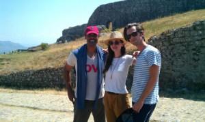 Rick Fox Eliza and Nate Dushku at Rozafa Castle in Shkodra Albania