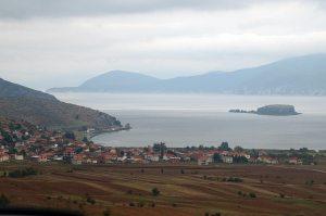 Prespasee mit Pustec/Liqenas und Insel Maligrad – Albanien