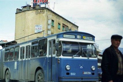 Bus aus Zürich – ein Geschenk an die Stadt Tirana (Jahr 2000)