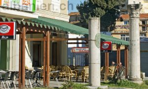 römische Säulen in Durrës, Albanien
