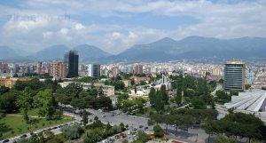 Tirana Stadtzentrum vom SkyTower