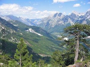 Valbona-Tal vom Weg nach Theth