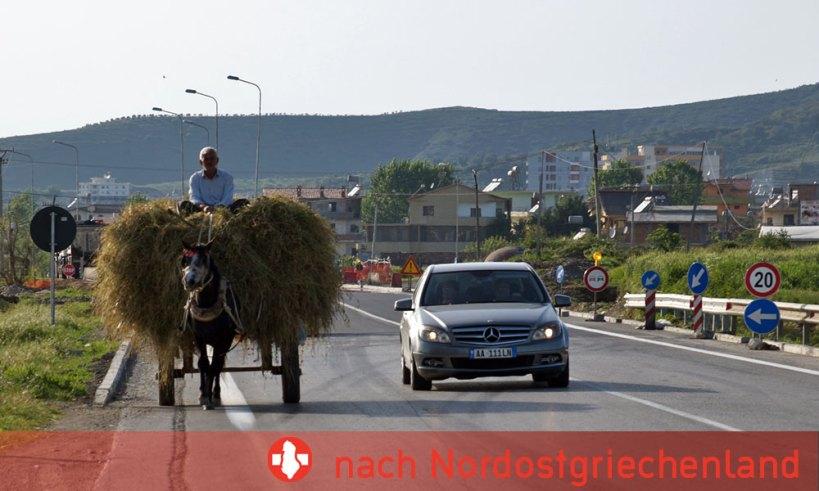 Durchreise durch Albanien von Montenegro nach Nordostgriechenland