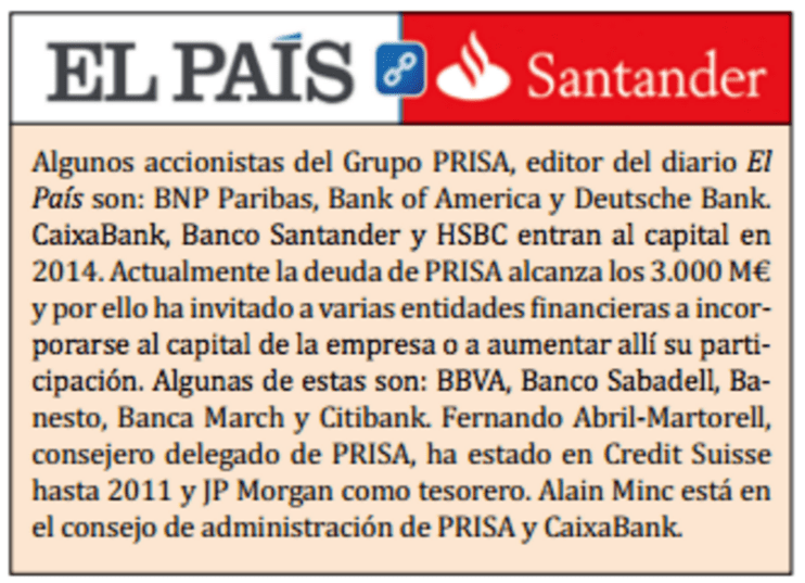Resultado de imagen de El País MIENTE