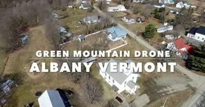 Albany VT Green Mountain Drone aerial tour